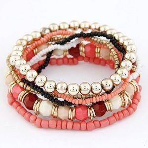 Jewelry - Pink Gold Tone Layered Bracelet